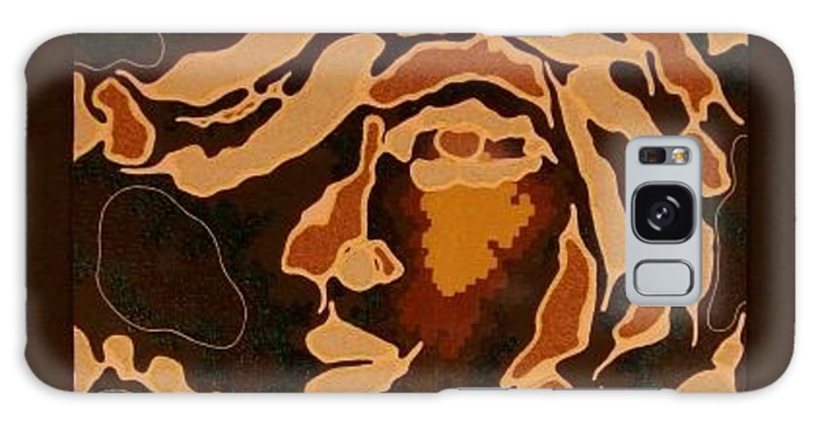 Abstract Galaxy S8 Case featuring the painting Faces Do Tell Tales 3 by Sanjib Mallik