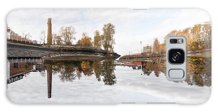 Helsinki Finland Reflection Water Sky Cityscape Autumn Trees Factory Lake River Galaxy S8 Case featuring the photograph Factory In Helsinki by Pedro Nunez