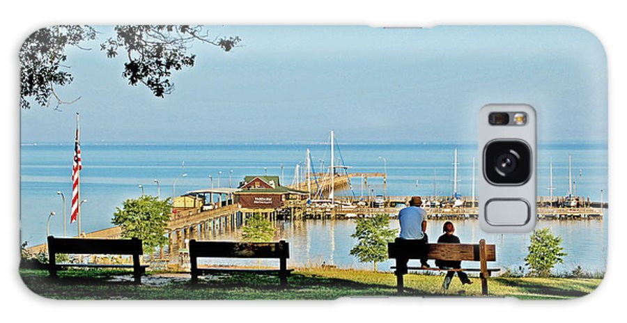 Fairhope Galaxy S8 Case featuring the painting Fairhope Alabama Pier by Michael Thomas