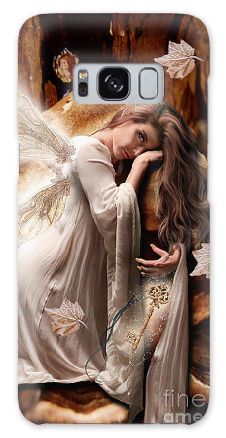 Fairy Galaxy S8 Case featuring the digital art Fairy Of The Key by Babette Van den Berg
