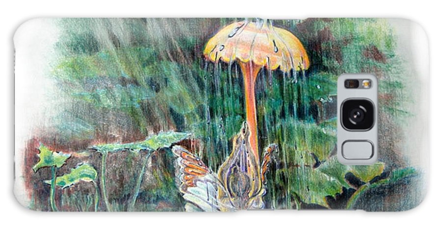 Fairy Galaxy Case featuring the drawing Fairy Shower by Susan Moore