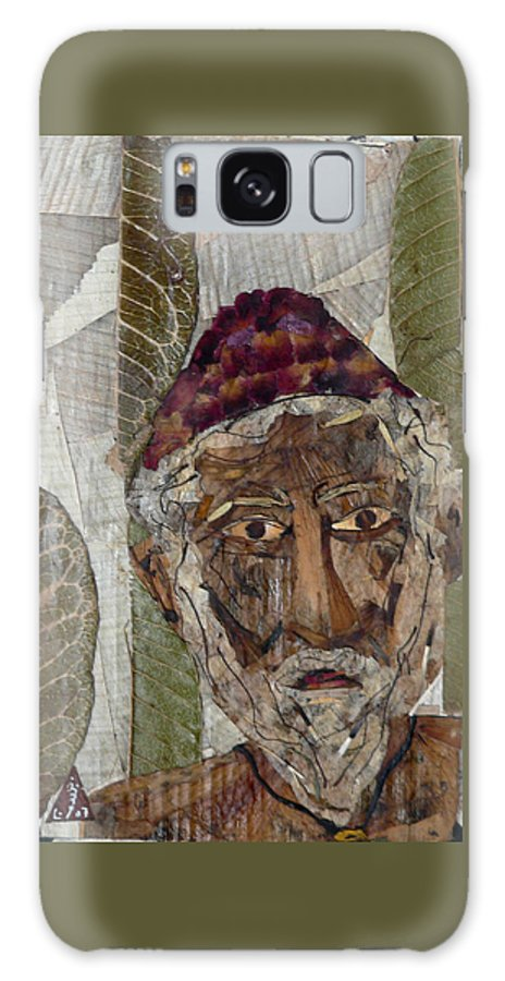 Portrait.holy Person Portrait Galaxy S8 Case featuring the mixed media Fakeer by basant Soni