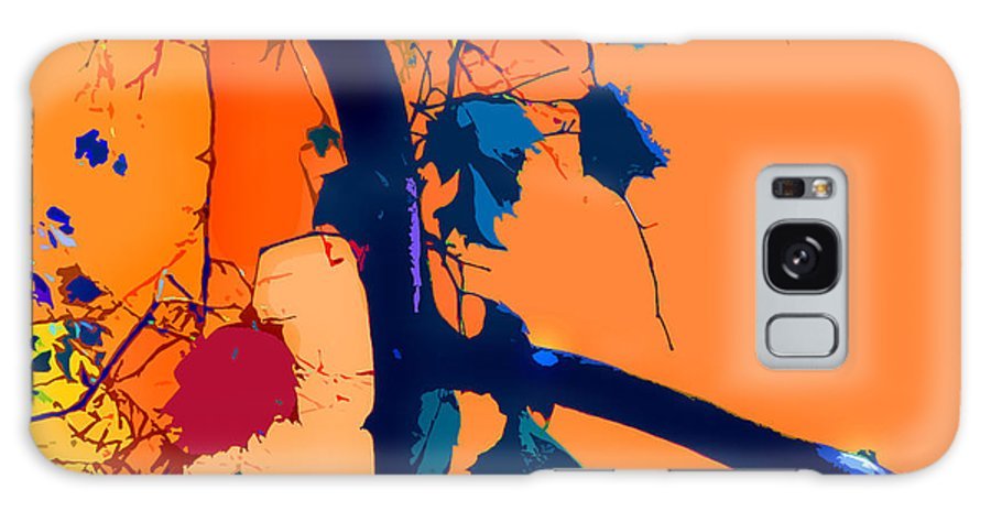 Abstract Galaxy Case featuring the digital art Fall Abstraction 5-2013 by John Lautermilch
