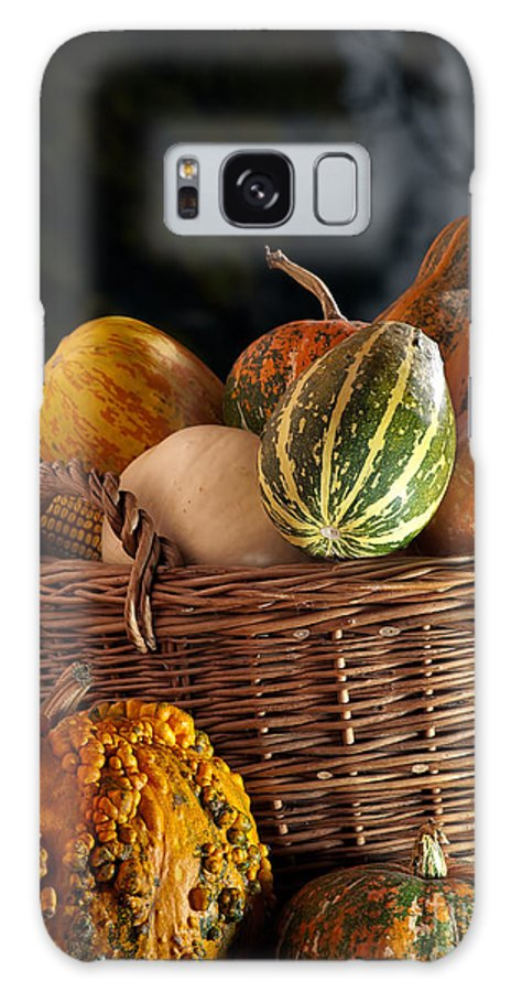 Pumpkin Galaxy S8 Case featuring the photograph Fall Basket by Sinisa Botas