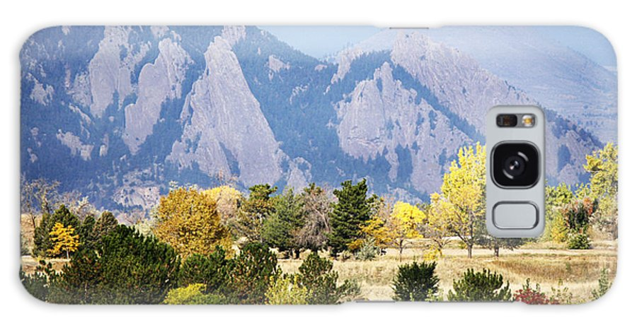 Fall Galaxy S8 Case featuring the photograph Fall Colors Along The Flatirons by Marilyn Hunt