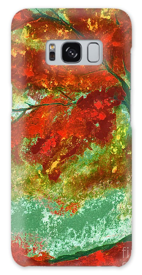 Four Seasons Galaxy S8 Case featuring the painting Fall Impression By Jrr by First Star Art