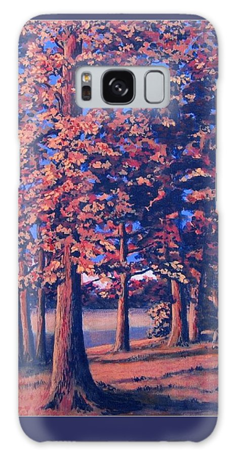Trees Galaxy S8 Case featuring the painting Fall In East Texas by Suzanne Theis