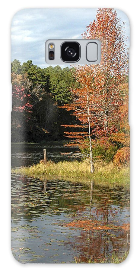 Texas Galaxy S8 Case featuring the photograph Fall On The Lake by Lynn Cromer