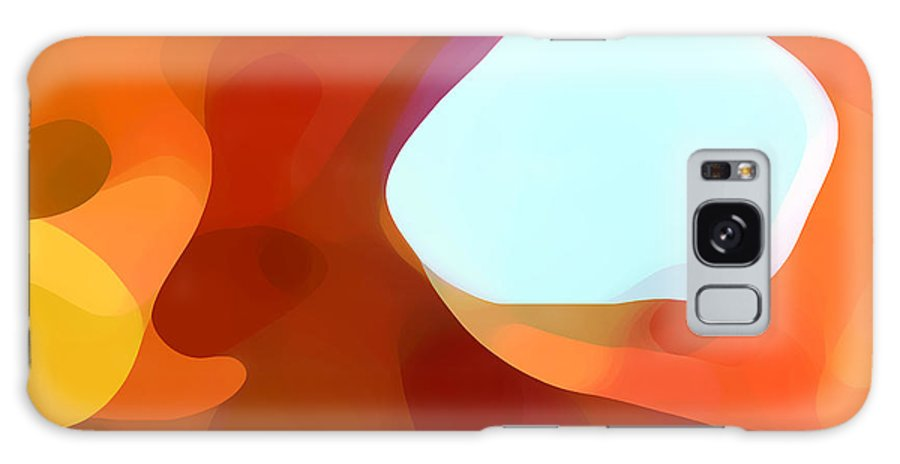 Abstract Galaxy S8 Case featuring the painting Fall Passage by Amy Vangsgard
