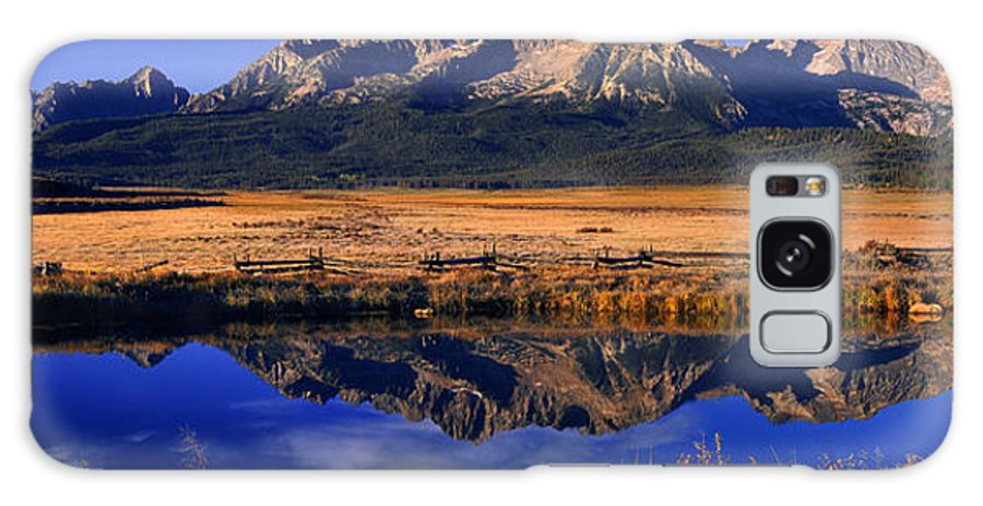 North America Galaxy S8 Case featuring the photograph Fall Reflections Sawtooth Mountains Idaho by Dave Welling