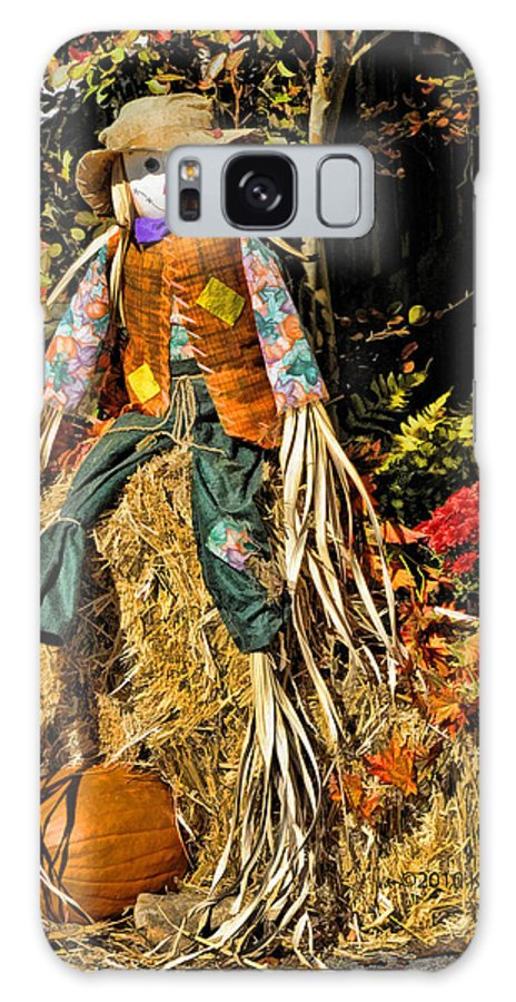 Kenny Francis Galaxy S8 Case featuring the photograph Fall Scarecrow by Kenny Francis