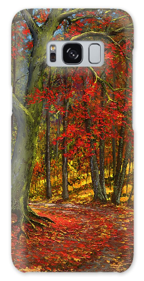 Landscape Galaxy S8 Case featuring the painting Fallen Leaves by Frank Wilson