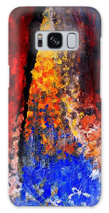 Abstract Galaxy S8 Case featuring the painting Falling by Ian MacDonald