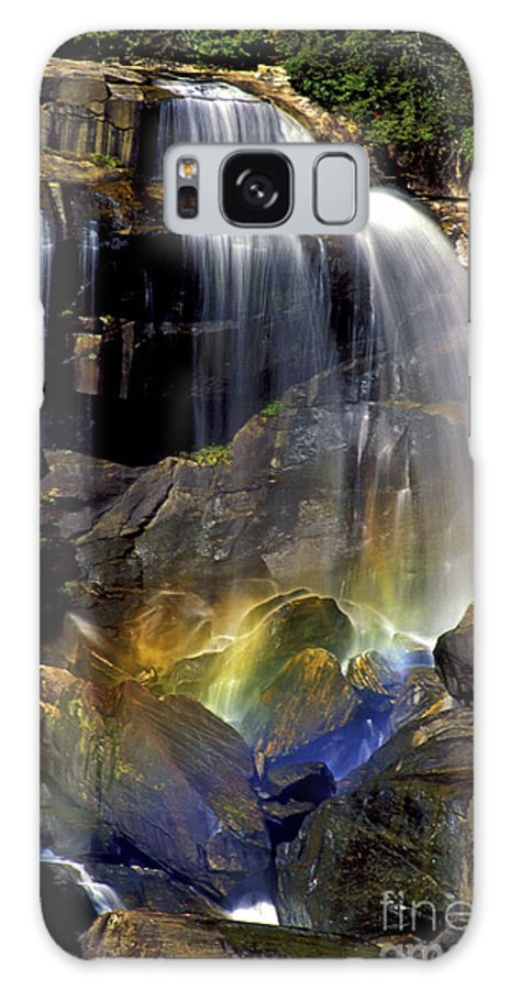 Whitewater Falls Galaxy S8 Case featuring the photograph Falls And Rainbow by Paul W Faust - Impressions of Light