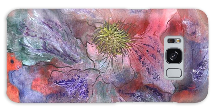 Blue Galaxy S8 Case featuring the painting Fantasy Clematis by Carol Rowland