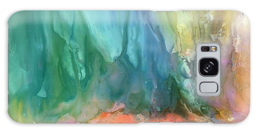 Fantasy Galaxy S8 Case featuring the painting Fantasy Falls by Alexis Bonavitacola