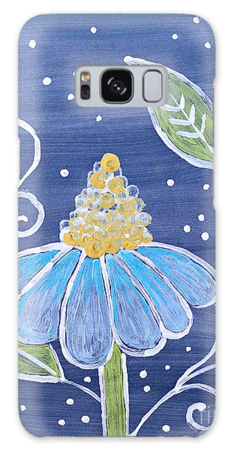 Flowers Galaxy S8 Case featuring the drawing Fantasy Flower 1 by Sandy Rosen