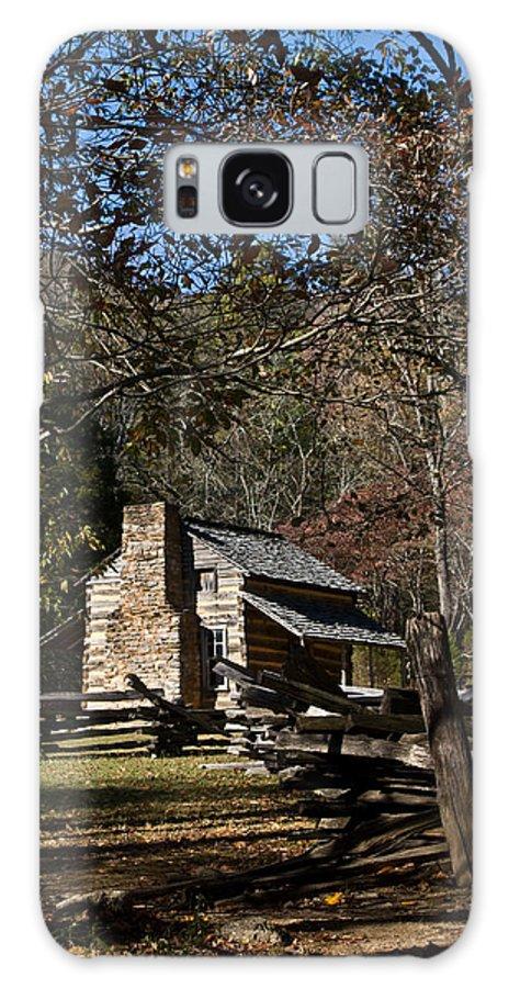 Farm Galaxy S8 Case featuring the photograph Farm Cabin Cades Cove Tennessee by Douglas Barnett