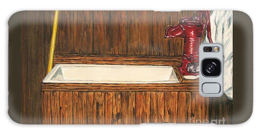 Farm Sink Galaxy Case featuring the painting Farm Sink by Regan J Smith