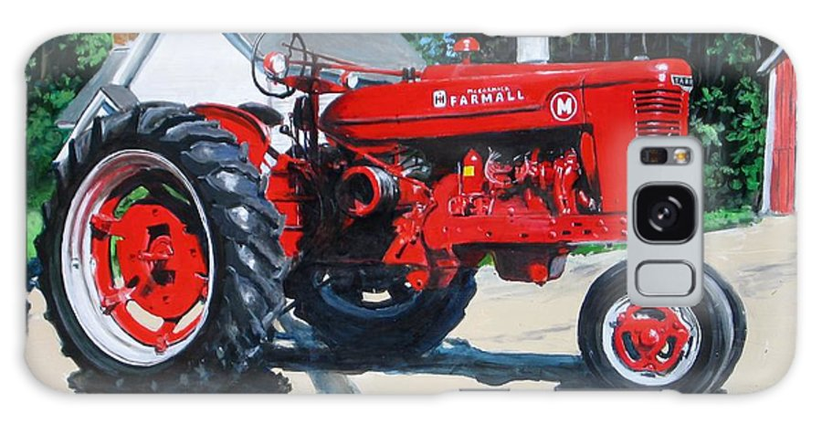 Tractor Galaxy Case featuring the painting Farmall M by William Brody