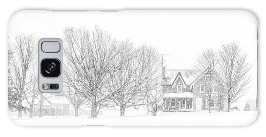Farmland Galaxy S8 Case featuring the photograph Farmhouse In Winter by Nicole Couture-Lord