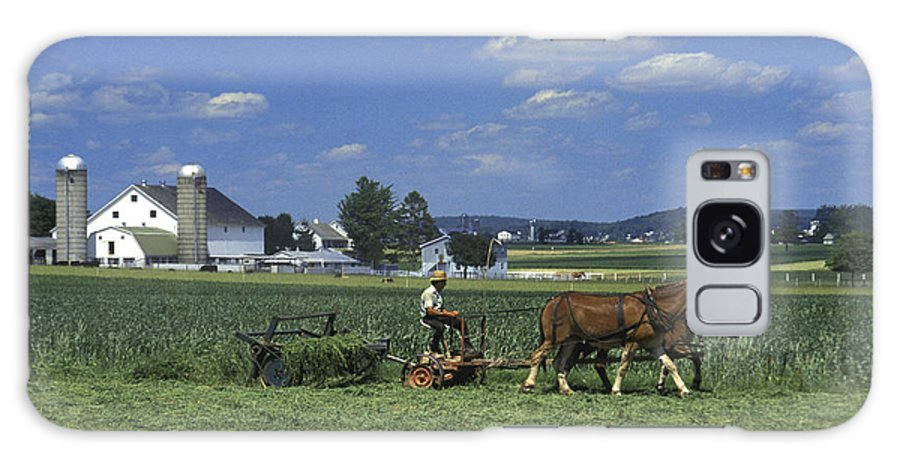 Amish Galaxy S8 Case featuring the photograph Farming The Old Order Way by Paul W Faust - Impressions of Light