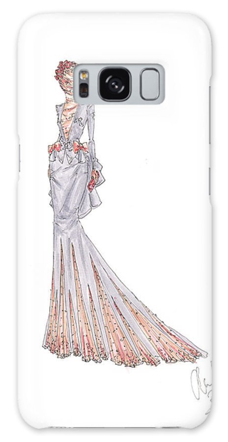 Fashion Illustration Rose Lace Dress Drawing Galaxy S8 Case For Sale By Alex Newton