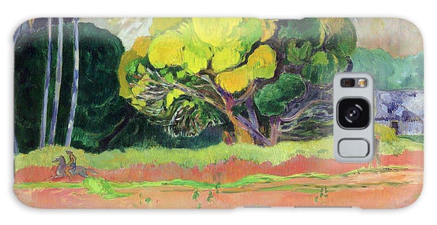 Tahiti Galaxy S8 Case featuring the painting Fatata Te Moua by Paul Gauguin