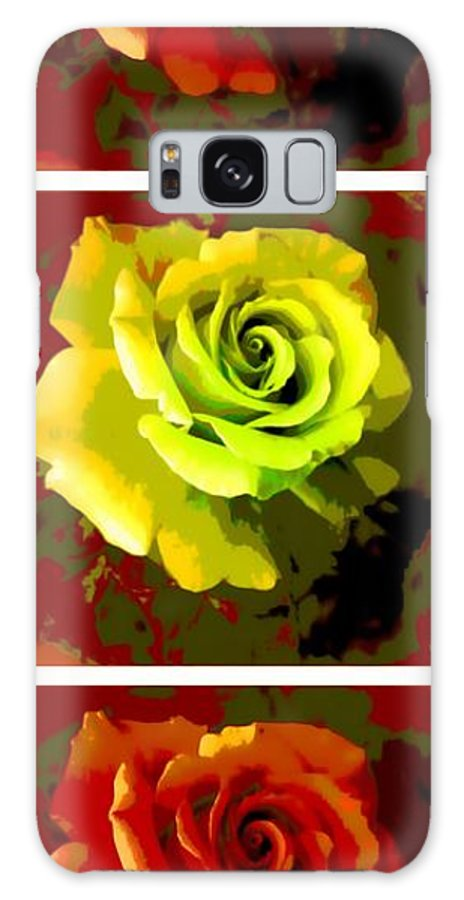 Fauvism Roses Triptych Galaxy S8 Case featuring the photograph Fauvism Roses Triptych by Barbara Griffin