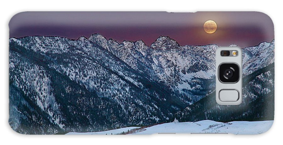 Full Moon Galaxy S8 Case featuring the photograph February Moon by Curtis Akin