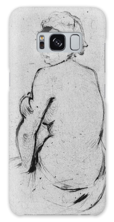 Female Nude Seen From Behind Galaxy S8 Case featuring the drawing Female Nude Seen From Behind by Berthe Morisot