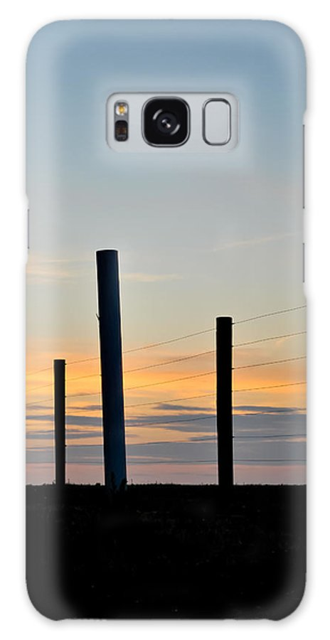Fence Galaxy S8 Case featuring the photograph Fence Posts At Sunset by Wayne King