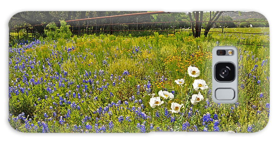 Tx Galaxy S8 Case featuring the photograph Fenceline Wildflowers by Lynn Bauer