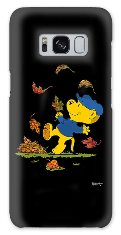 Ferald Galaxy Case featuring the drawing Ferald Dancing Amongst The Autumn Leaves by Keith Williams