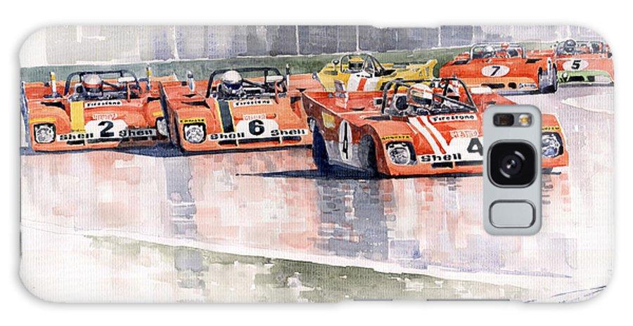 Watercolor Galaxy S8 Case featuring the painting Ferrari 312 Pb Daytona 6 Hours 1972 by Yuriy Shevchuk
