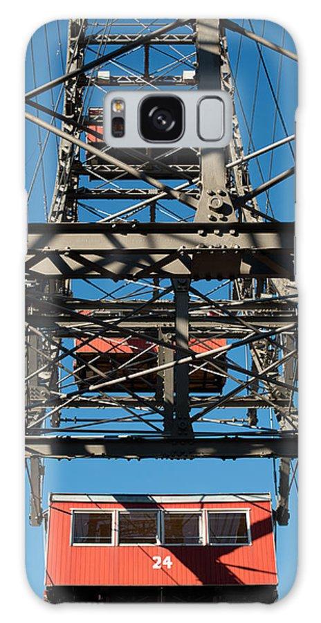 Vienna Galaxy S8 Case featuring the photograph Ferris Wheel At Vienna Prater by Frank Gaertner