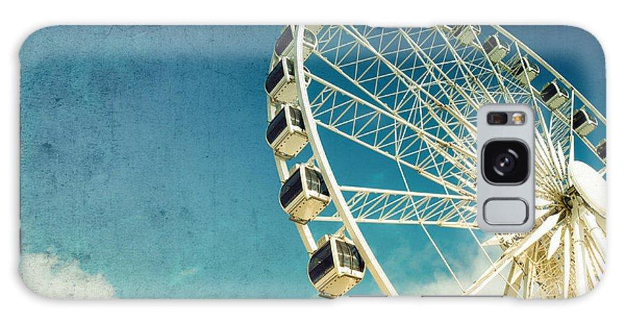 Wheel Galaxy S8 Case featuring the photograph Ferris Wheel Retro by Jane Rix