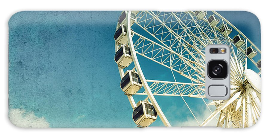 Wheel Galaxy Case featuring the photograph Ferris wheel retro by Jane Rix