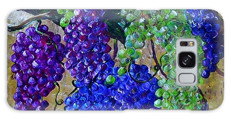 Grapes Galaxy S8 Case featuring the painting Festival Of Grapes by Eloise Schneider Mote