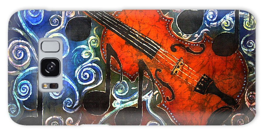 Fiddle Galaxy S8 Case featuring the painting Fiddle - Violin by Sue Duda