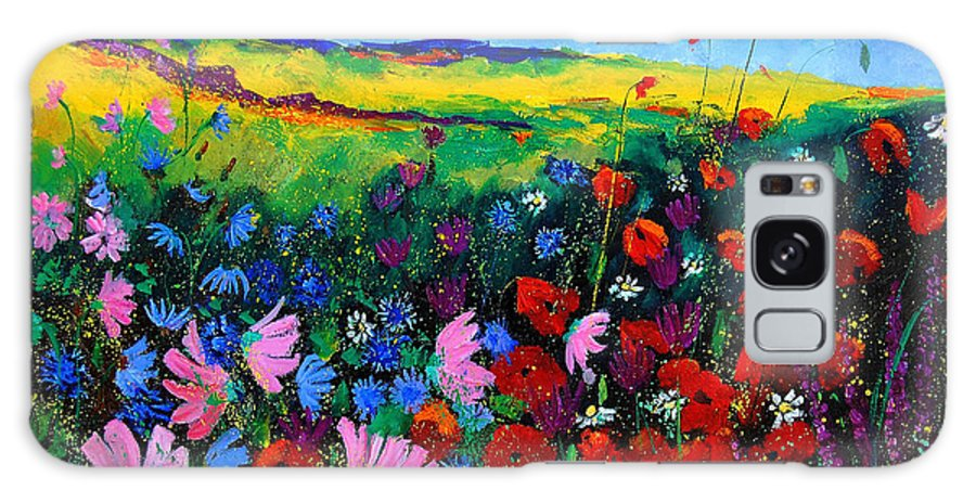 Poppies Galaxy S8 Case featuring the painting Field Flowers by Pol Ledent