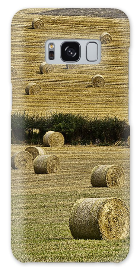 Landscape Galaxy S8 Case featuring the photograph Field Of Hay Bales by Marcia Colelli