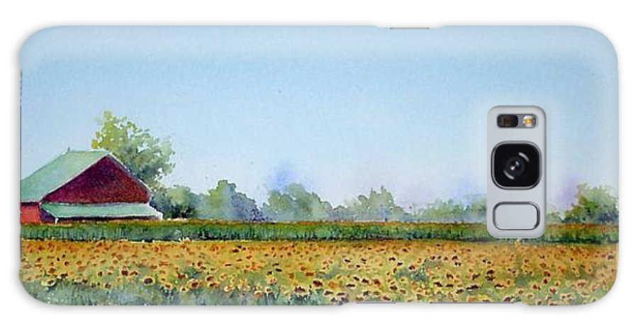 Landscape Galaxy Case featuring the painting Field Of Sunshine by Patricia Henderson