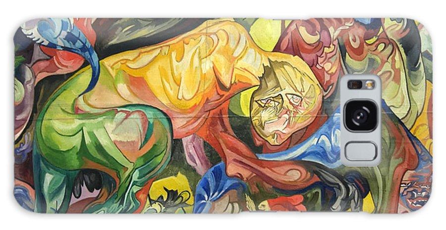 Stanislaw Ignacy Witkiewicz Galaxy S8 Case featuring the painting Fight by Stanislaw Ignacy Witkiewicz