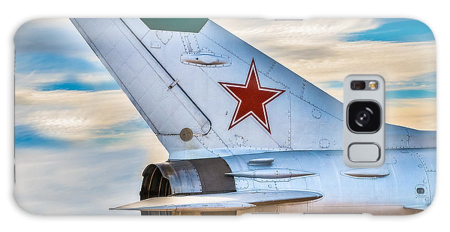 Fighter Jet Galaxy S8 Case featuring the digital art Fighter Jet by Wolfgang Hauerken