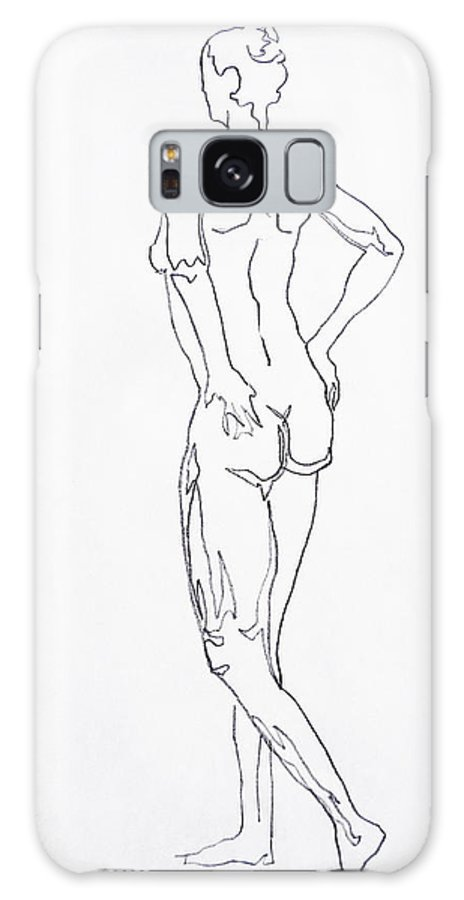 Woman Galaxy S8 Case featuring the drawing Figure Drawing Study I by Irina Sztukowski