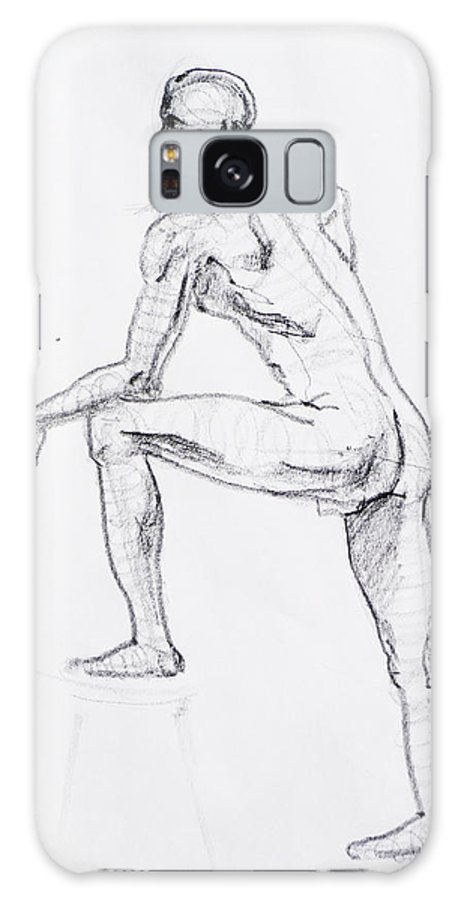 Man Galaxy S8 Case featuring the drawing Figure Drawing Study II by Irina Sztukowski