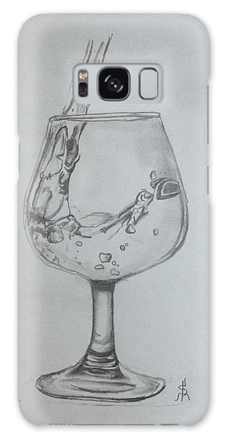 Wine Galaxy S8 Case featuring the drawing Fill My Glass by Shelby Rawlusyk