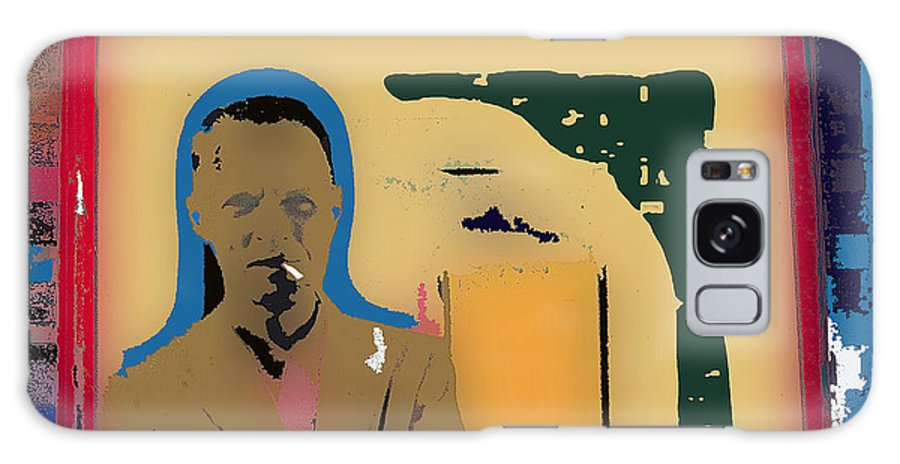 Film Noir Author Cornell Woolrich Color Drawing Added 2008 Galaxy S8 Case featuring the photograph Film Noir Author Cornell Woolrich Color Drawing Added 2008 by David Lee Guss