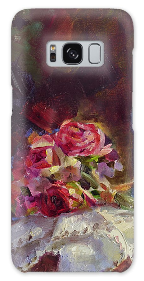 Finer Things Galaxy S8 Case featuring the painting Finer Things Still Life By Karen Whitworth by Karen Whitworth